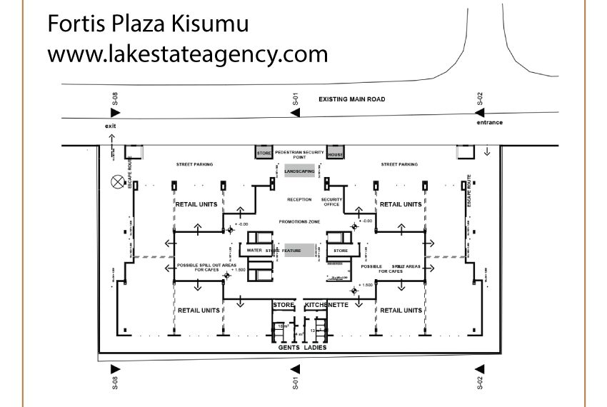 The Fortis Plaza site plan A